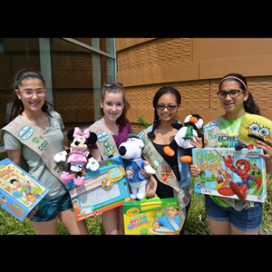 Fair Lawn Girl Scouts Donate Toys to SJCH